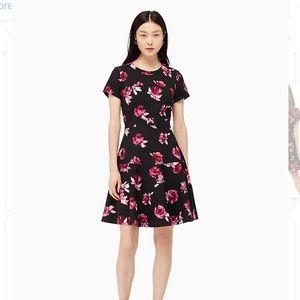Kate Spade Encore Rose Crepe Dress